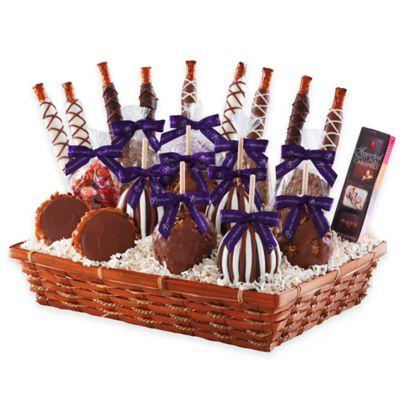 Mrs. Prindable's Deluxe Caramel Apple Basket Gift Set