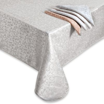 Lenox® Opal Innocence™ 60-Inch x 102-Inch Oblong Tablecloth in White