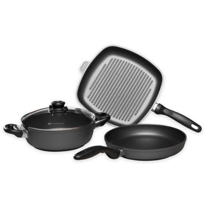 Swiss Diamond® 4-Piece Fry, Casserole and Grill Set