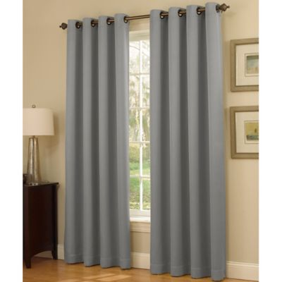 Insola Dorian Thermalayer Grommet Top 108-Inch Window Curtain Panel in Plum