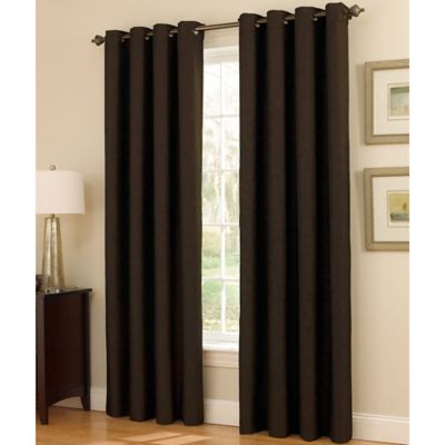 Insola Dorian Thermalayer Grommet Top 108-Inch Window Curtain Panel in Chocolate