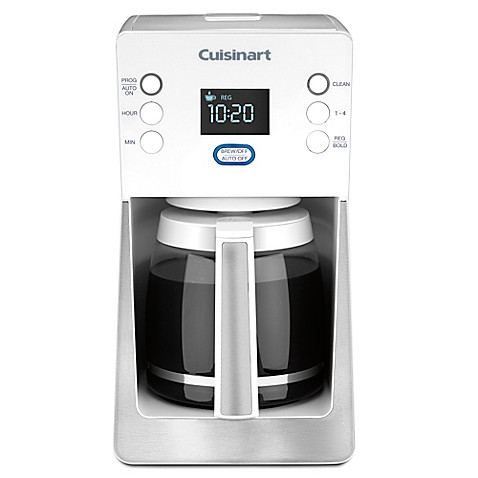 Cuisinart Perfec Temp 14 Cup Coffee Maker In White Bed