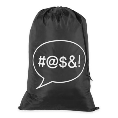 Icon Laundry Bag in Black