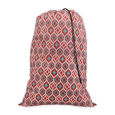 Ikat Print Laundry Bag