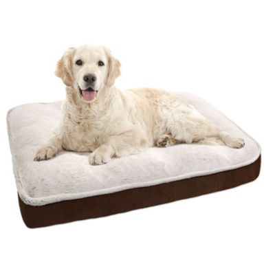 Orthopedic Foam Filled Balleny Tip Mirco Mink Quilted 40-Inch x 30-Inch Mattress Pet Bed in Natural