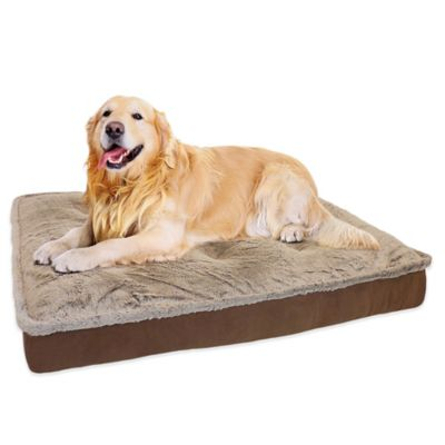 "Orthopedic Foam Filled Balleny Tip Mirco Mink Quilted Mattress 45"" x 36"" Pet Bed in Beige"