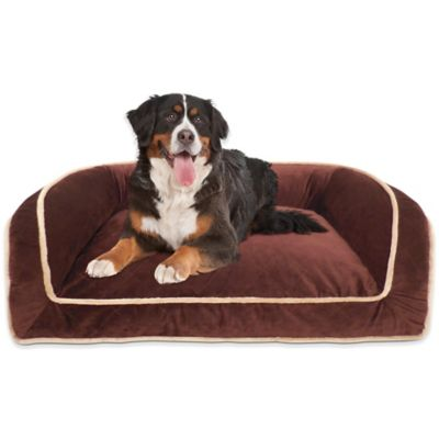 Orthopedic Quilted Micro Velvet Couch Bed in Brown