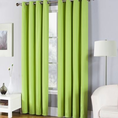 95-Inch Window Curtain Panel in Lemon Grass