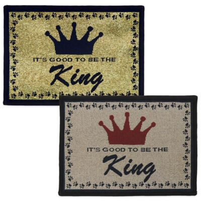 P.B. Paws by Park B. Smith King 13-Inch x 19-Inch Tapestry Pet Mat in Beige/Black
