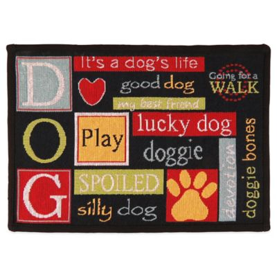 PB Paws™ by Park B.Smith I Love Dogs 13-Inch x 19-Inch Pet Mat