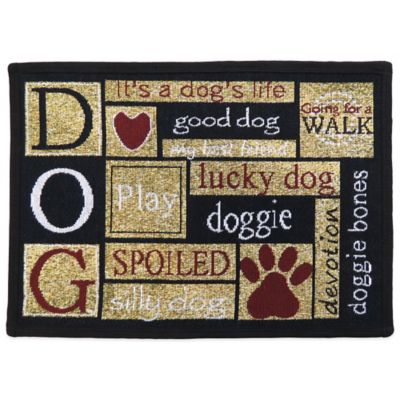 PB Paws™ by Park B.Smith I Love Dogs 19-Inch x 27-Inch Pet Mat