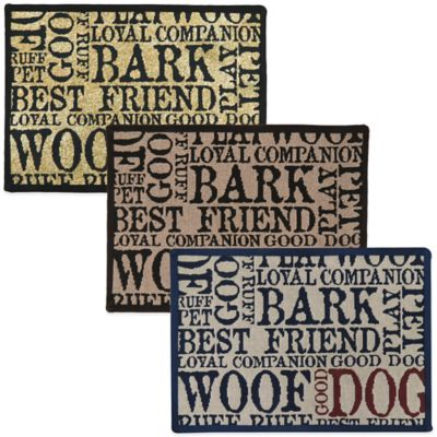 PB Paws™ by Park B. Smith Good Dog 13-Inch x 19-Inch Mat in Creme
