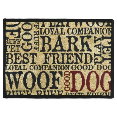 PB Paws™ by Park B. Smith Good Dog 13-Inch x 19-Inch Mat in Sand