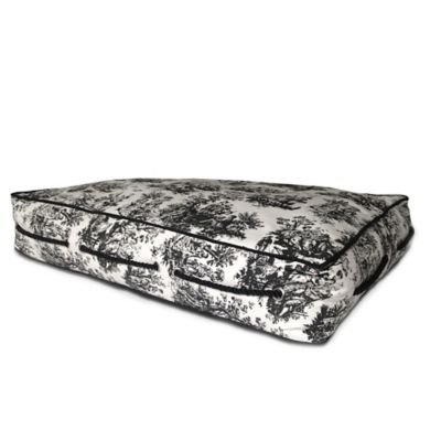 Bombay™ Rectangle Pet Bed in Black Toile