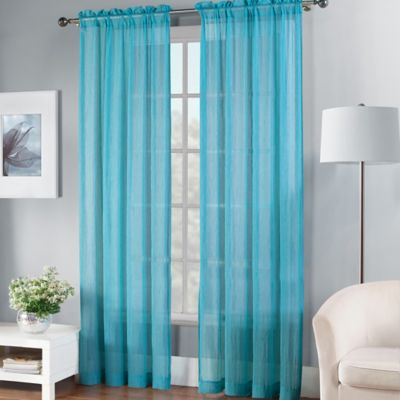Fiesta® 84-Inch Sheer Window Curtain Panel in Scarlet