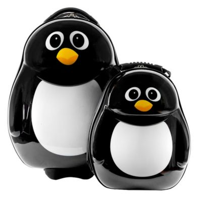 The Cuties® and Pals Penguin 2-Piece Kids Trolley Luggage Set