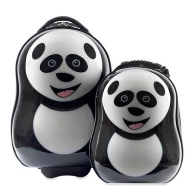 The Cuties® and Pals Panda 2-Piece Kids Trolley Luggage Set