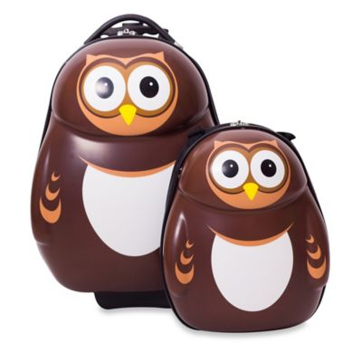 Owl 2-Piece Kids Trolley Luggage Set