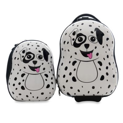 The Cuties® and Pals Dalmatian 2-Piece Kids Trolley Luggage Set