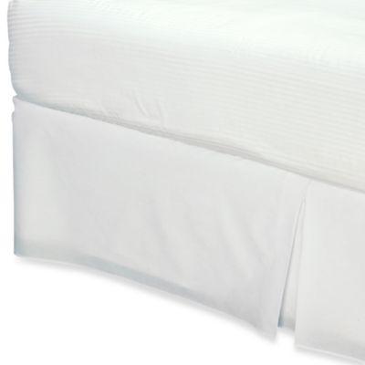 Smoothweave™ 14-Inch Tailored California King Bed Skirt in White