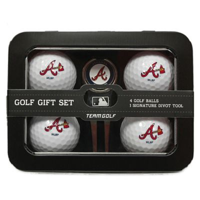 MLB Atlanta Braves 5-Piece Golf Ball and Divot Tool Set