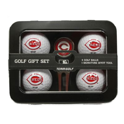 MLB Cincinnati Reds 5-Piece Golf Ball and Divot Tool Set