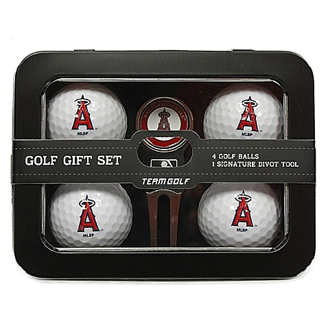 buy mlb los angeles angels 5 piece golf ball and divot. Black Bedroom Furniture Sets. Home Design Ideas
