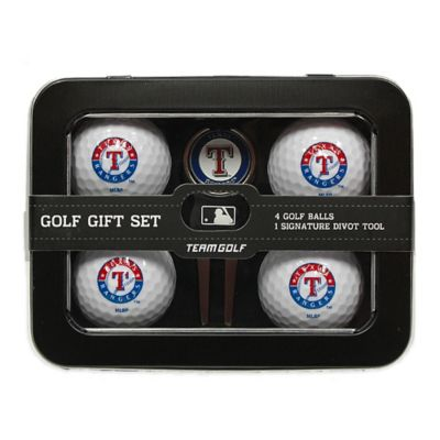MLB Texas Rangers 5-Piece Golf Ball and Divot Tool Set