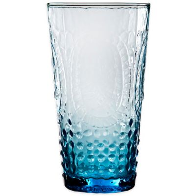 Home Essentials Vintage Hobnail Highball Glass in Blue