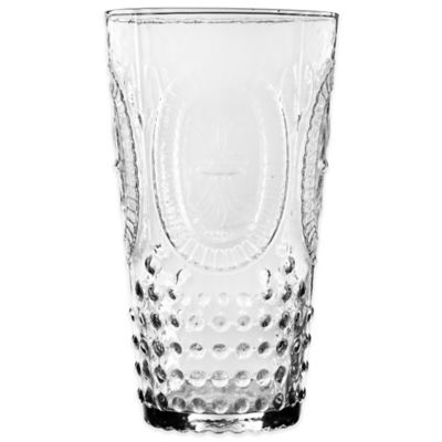 Home Essentials Vintage Hobnail Highball Glass in Clear