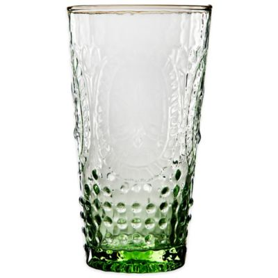 Home Essentials Vintage Hobnail Highball Glass in Green