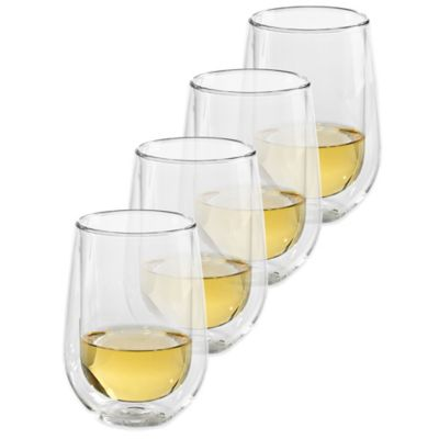 Steady-Temp Double Wall Stemless Chardonnay Glasses