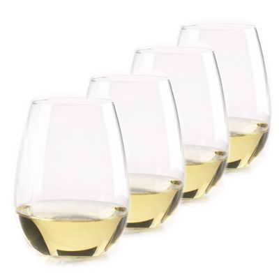 Wine Enthusiast® U Stemless Chardonnay Wine Glass (Set of 4)