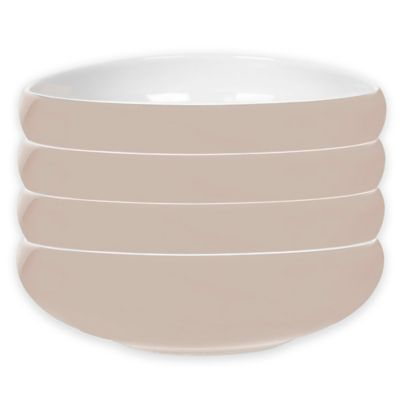 Portmeirion® Ambiance Pasta Bowls in Stone (Set of 4)