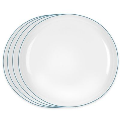 Portmeirion® Ambiance Dinner Plates in Aqua (Set of 4)
