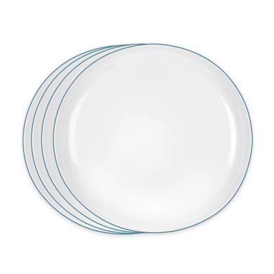 Portmeirion® Ambiance Salad Plates in Aqua (Set of 4)