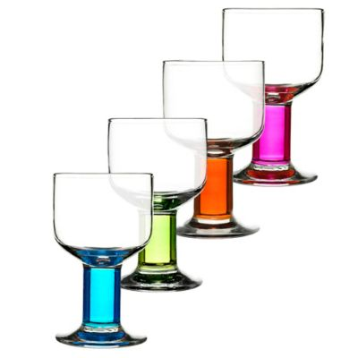Assorted Colors Wine Glasses