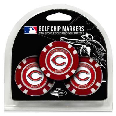 MLB Cincinnati Reds Golf Chip Ball Markers (Set of 3)