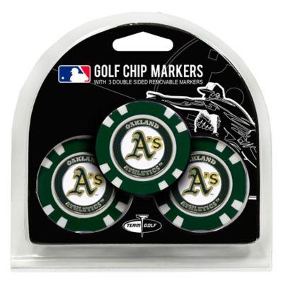 MLB Oakland Athletics Golf Chip Ball Markers (Set of 3)