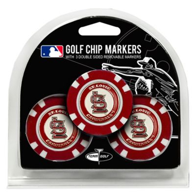 MLB St. Louis Cardinals Golf Chip Ball Markers (Set of 3)