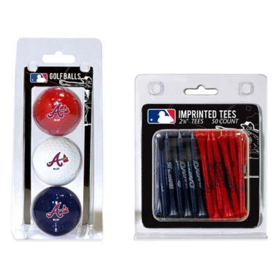 MLB Atlanta Braves Golf Ball and Golf Tee Pack