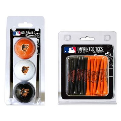MLB Baltimore Orioles Golf Ball and Golf Tee Pack