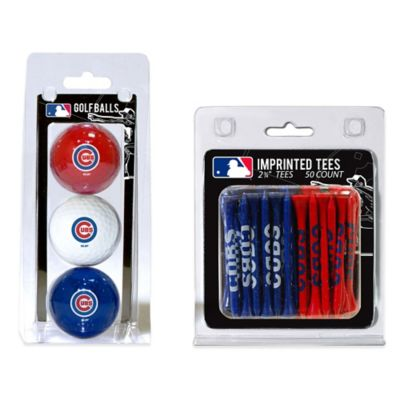 MLB Chicago Cubs Golf Ball and Golf Tee Pack
