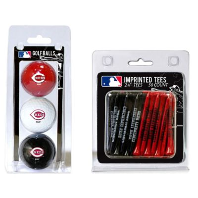 MLB Cincinnati Reds Golf Ball and Golf Tee Pack