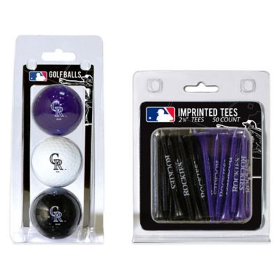 MLB Colorado Rockies Golf Ball and Golf Tee Pack
