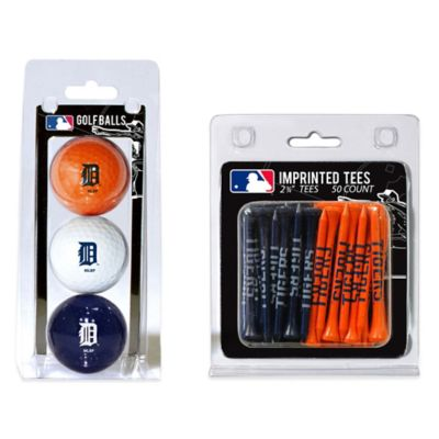 MLB Detroit Tigers Golf Ball and Golf Tee Pack