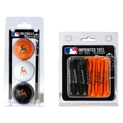 MLB Miami Marlins Golf Ball and Golf Tee Pack
