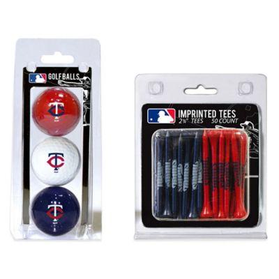 MLB Minnesota Twins Golf Ball and Golf Tee Pack