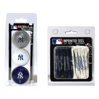 MLB New York Yankees Golf Ball and Golf Tee Pack