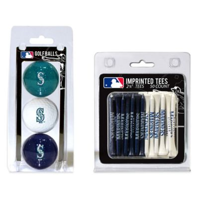 MLB Seattle Mariners Golf Ball and Golf Tee Pack